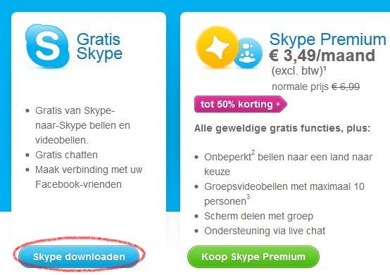 skype gratis downloaden