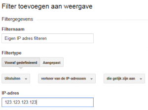 IP filteren Google Analytics